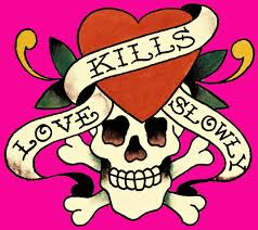 illustration love kills tattoo