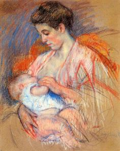 illustration while jenny laughs nursing mother