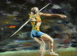 illustration the art of the javelin