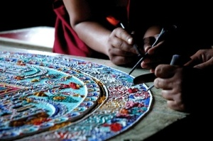 illustration sand mandala agnostics prayer
