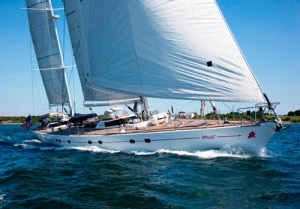 Apache, 105-foot D. Presles and J. Pierrejean charter yacht