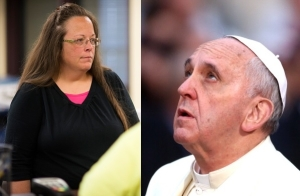 illustration kim davis pope francis essay